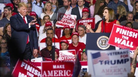 Trump, McSally at Mesa-Gateway Airport rally