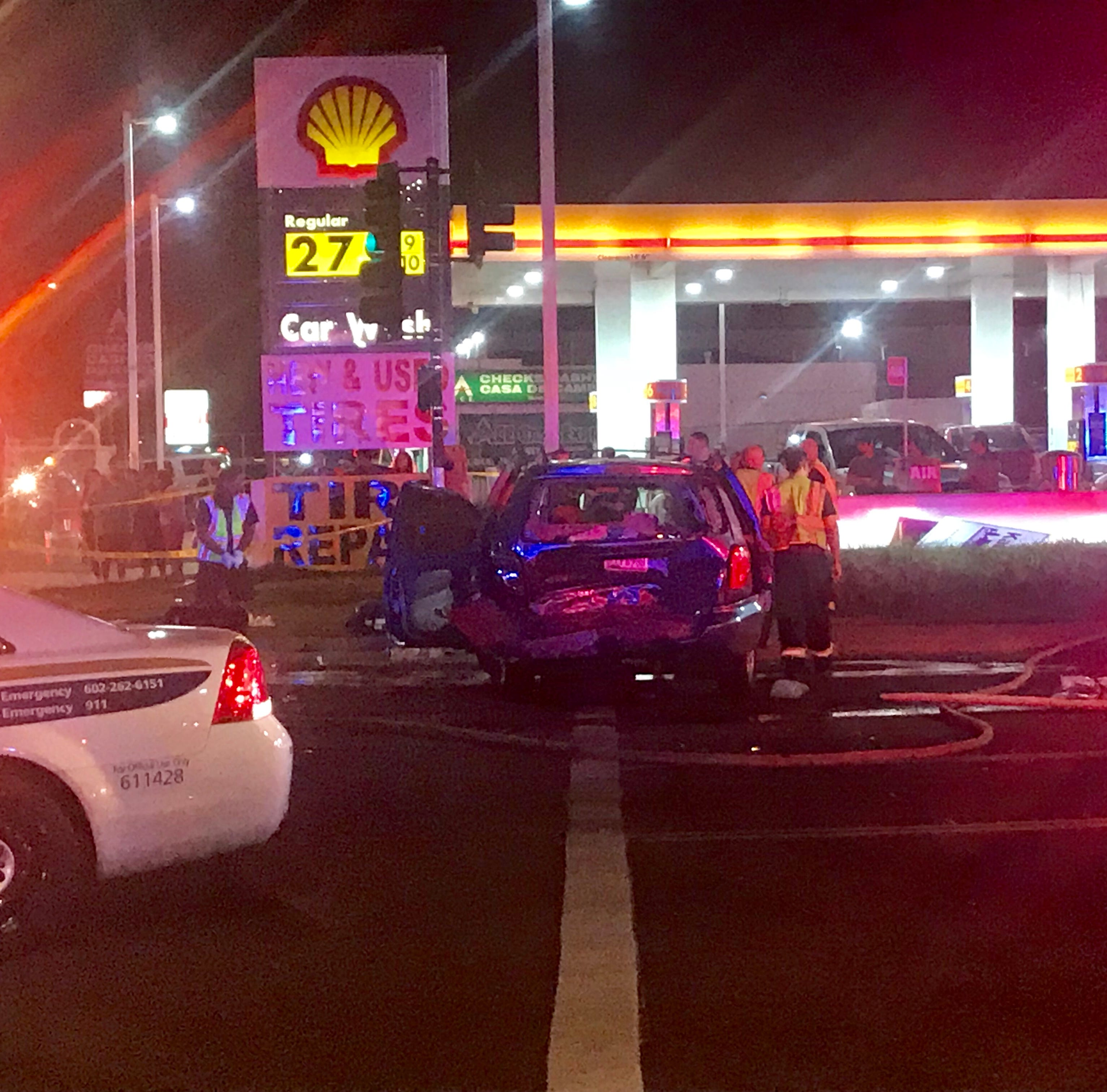 6 critically injured in Phoenix crash, officials say