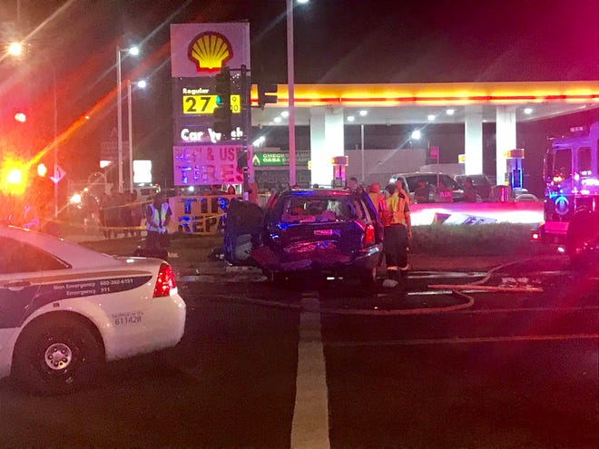 Phoenix police and fire crews were at the scene of a crash that sent six people to the hospital in critical condition, officials said.