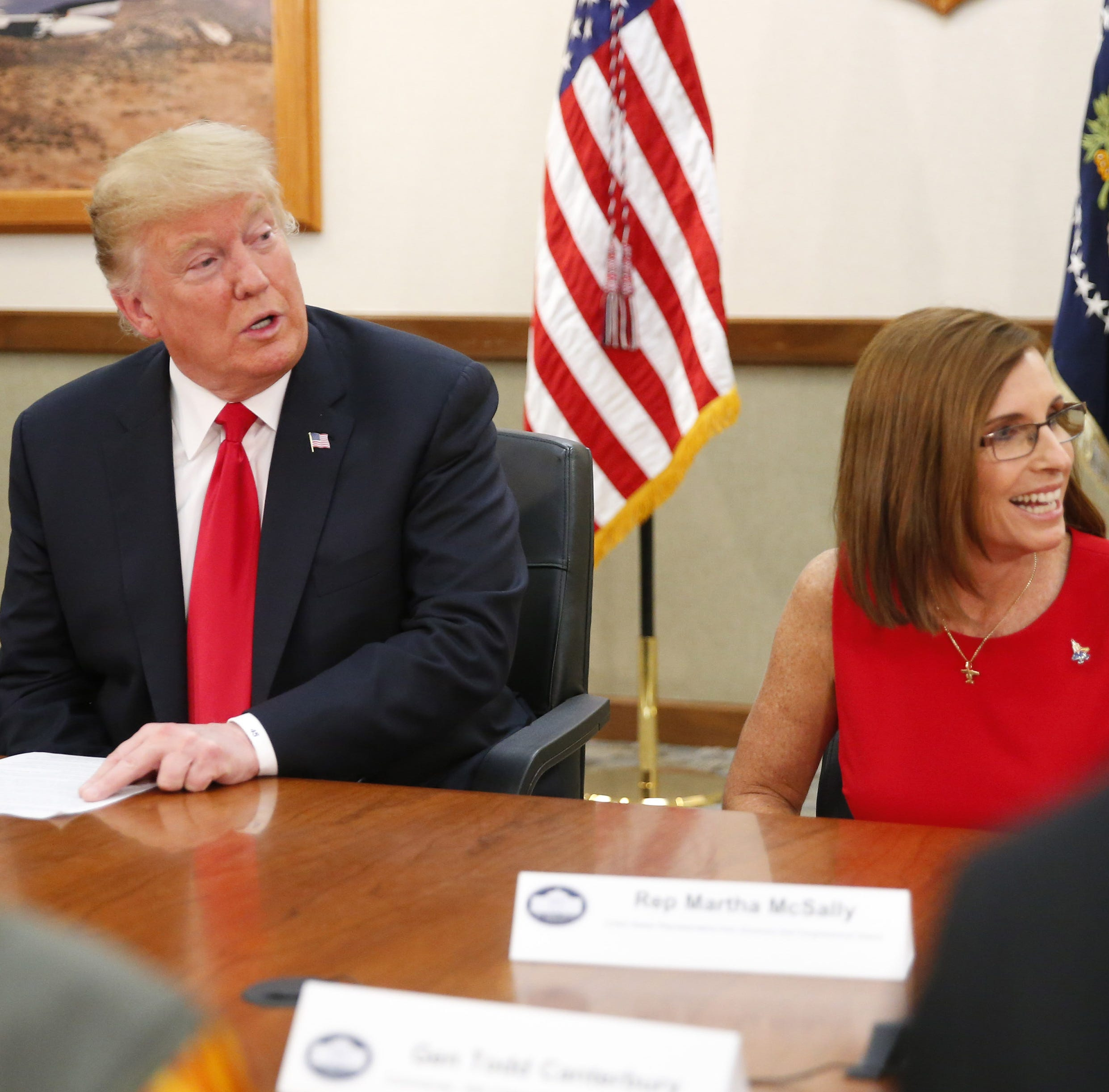 Sen. Martha McSally sells out the military (in other states) to appease Donald Trump
