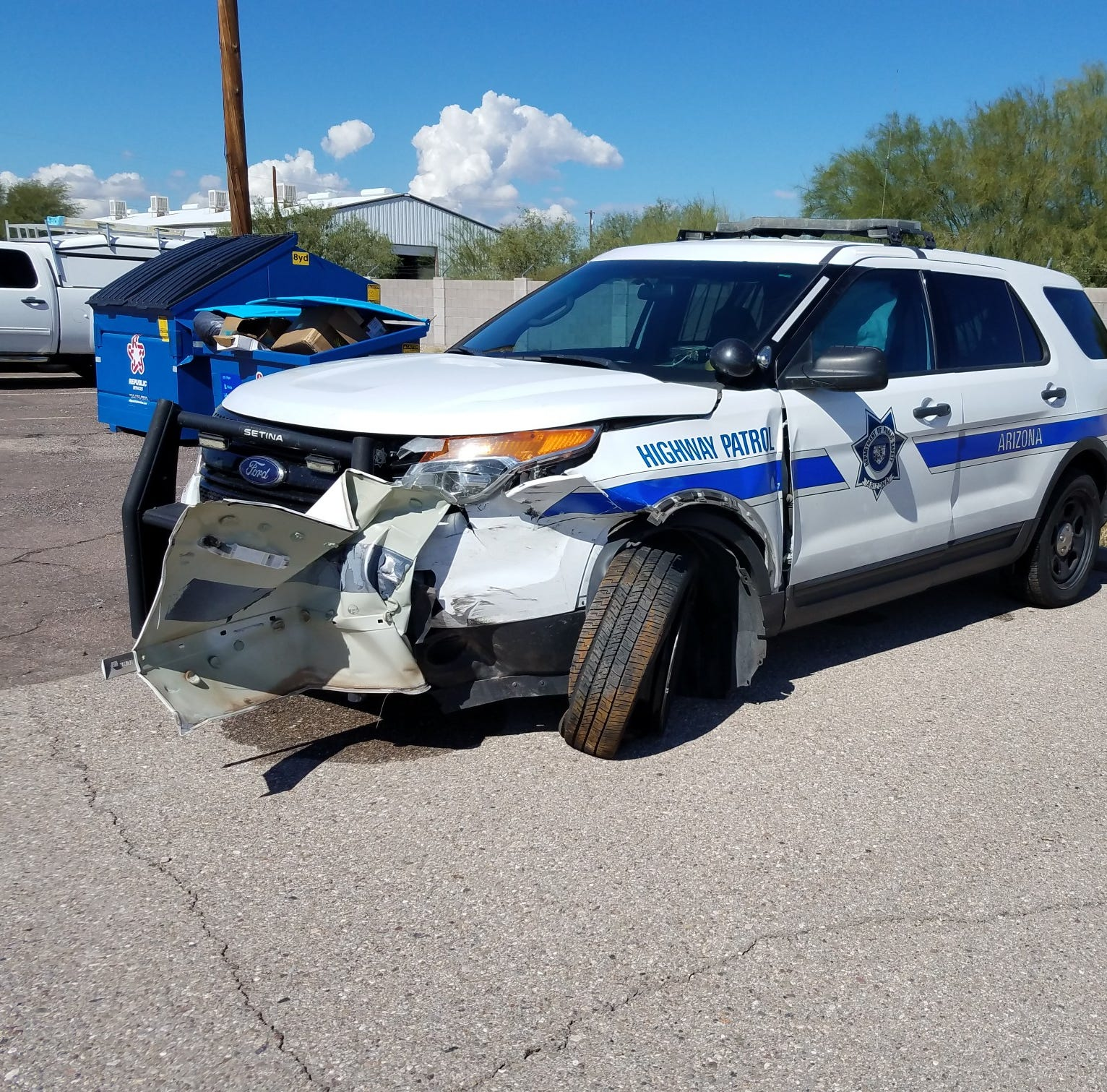 DPS trooper intentionally crashes to stop wrong-way driver on Interstate 10