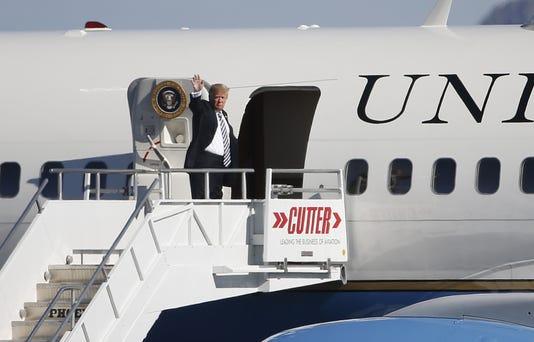 Trump Departs Phoenix