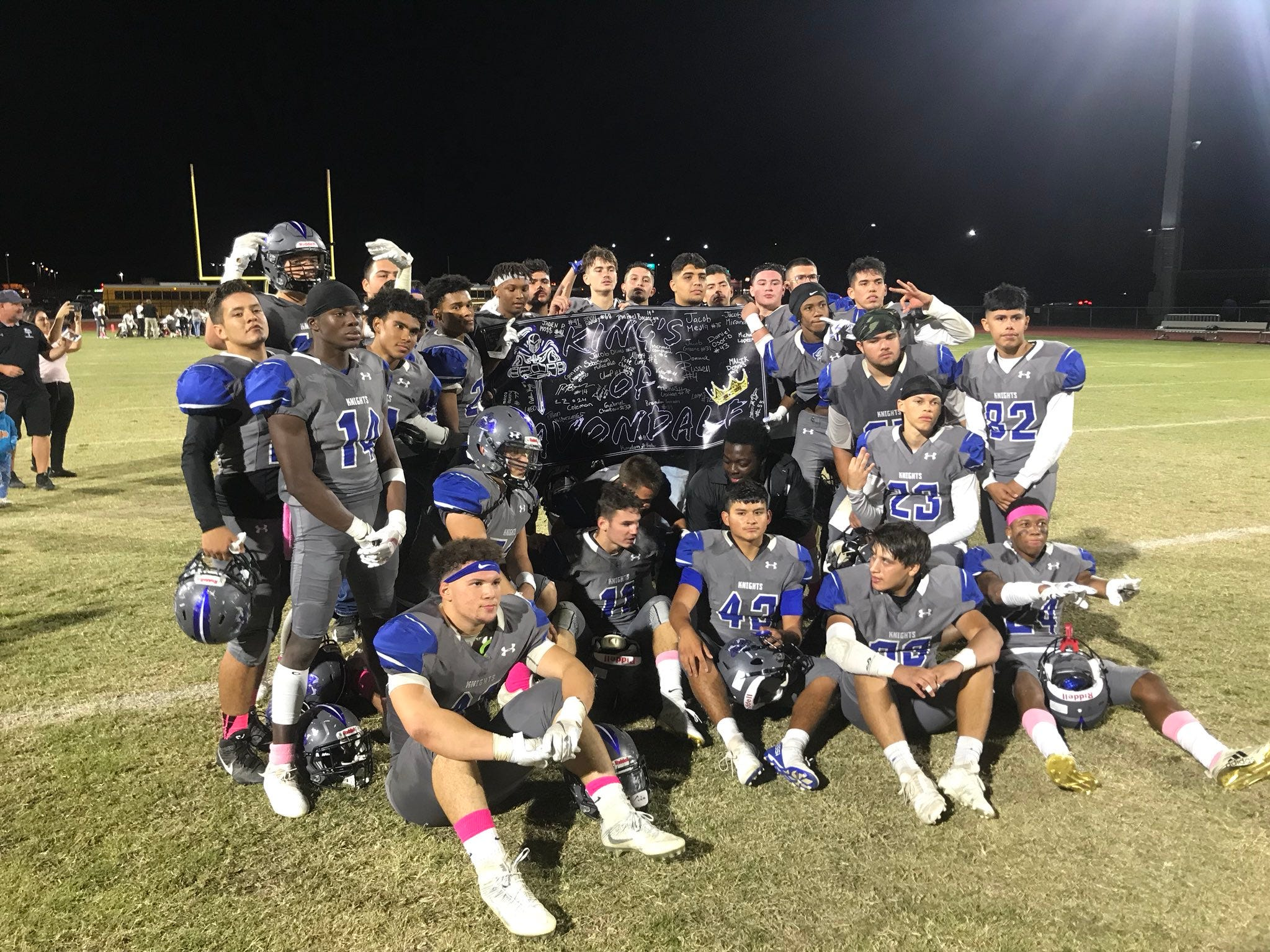 The Westview seniors on the field after Week 10 win over La Joya 37-14 on Oct. 19, 2018.