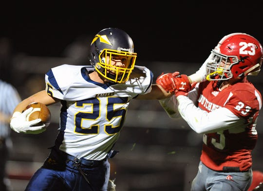 Elco RB Jordan Fernandez (25) and his Raider teammates will tangle with Susquenita in their season opener on Friday night.