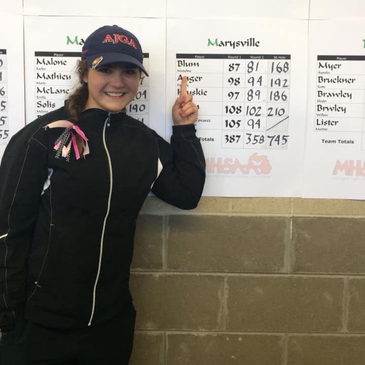 Athlete of the Week: Marysville golfer Blum ends season all-state
