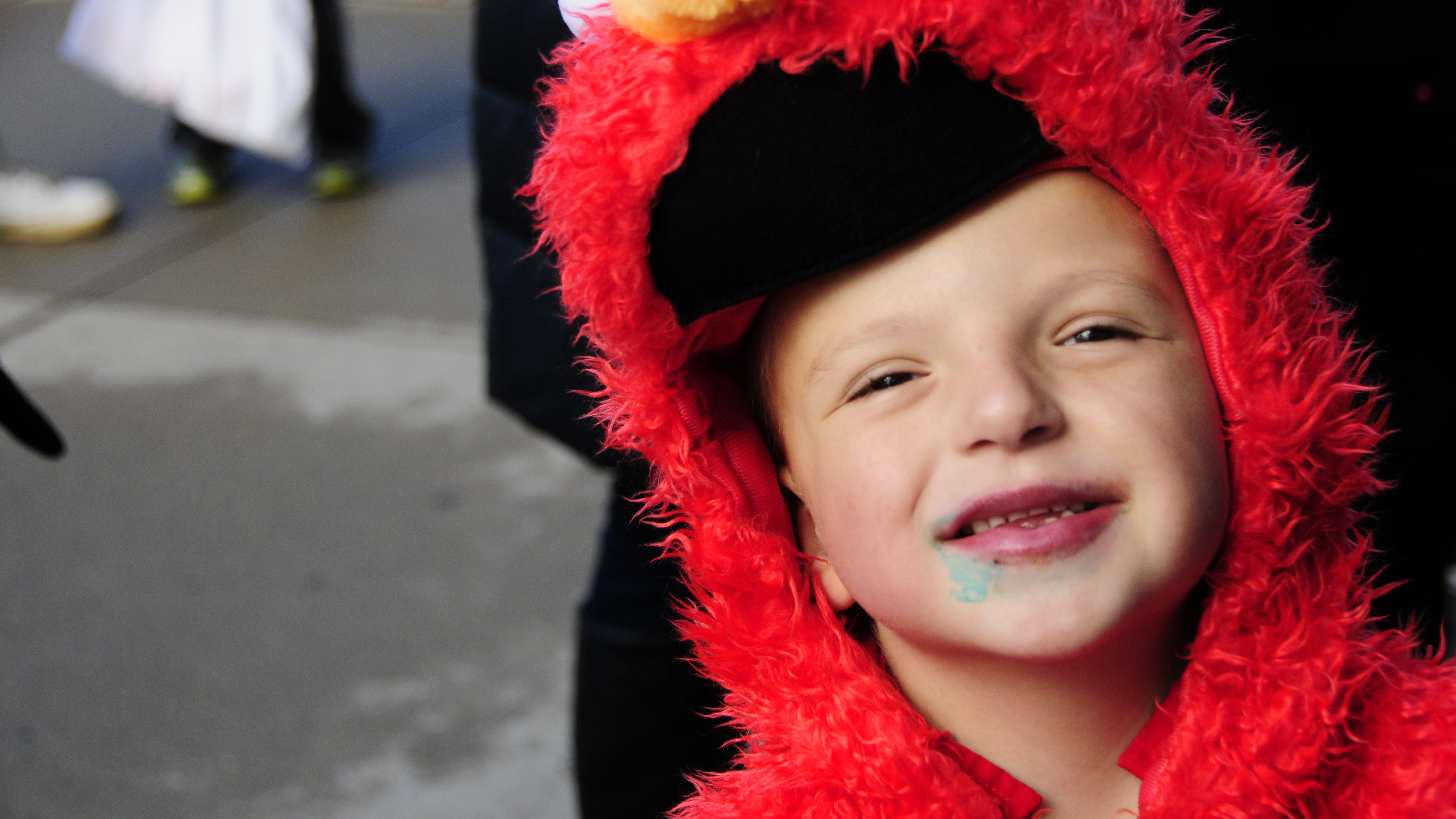 Charles Jones, 5, channels Elmo during Truck-or-Treat on Saturday, Oct. 20, 2018 in Port Huron.