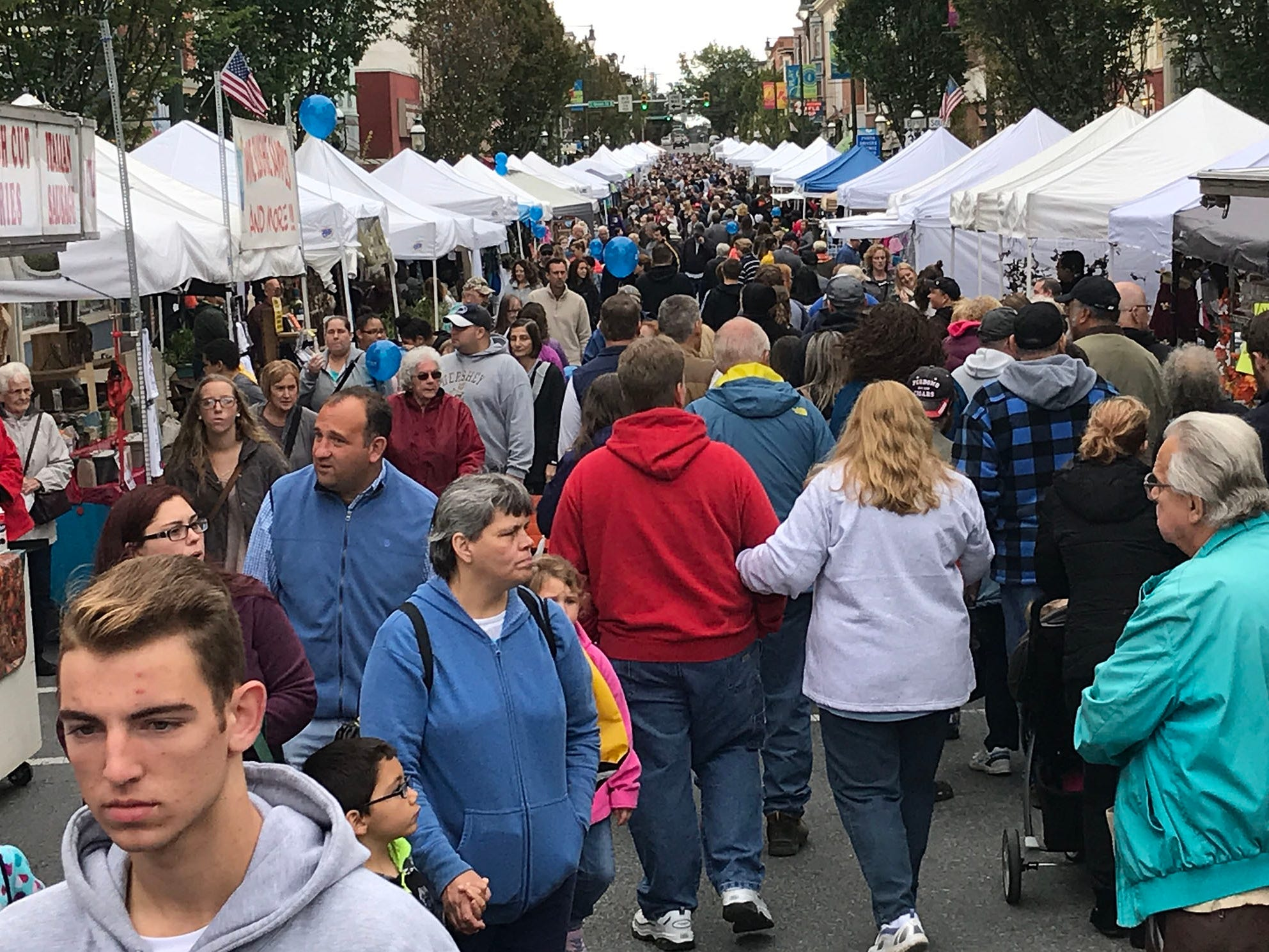 Crowds gather downtown for Applefest. Applefest started Saturday morning October 20, 2018 in downtown Chambersburg.
