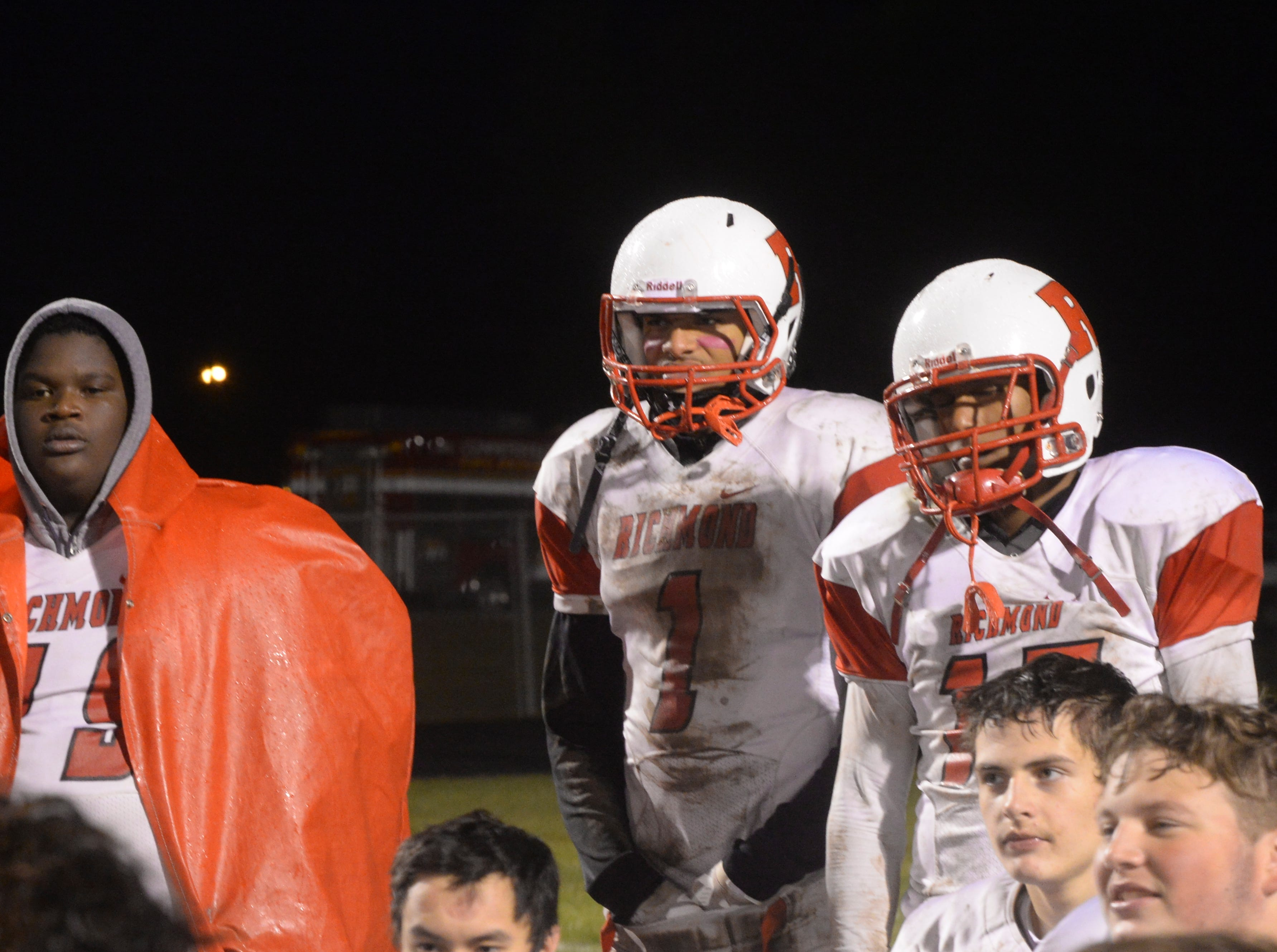The Richmond High School football team defeated Connersville 31-7 in the sectional opener Friday, Oct. 19, 2018.