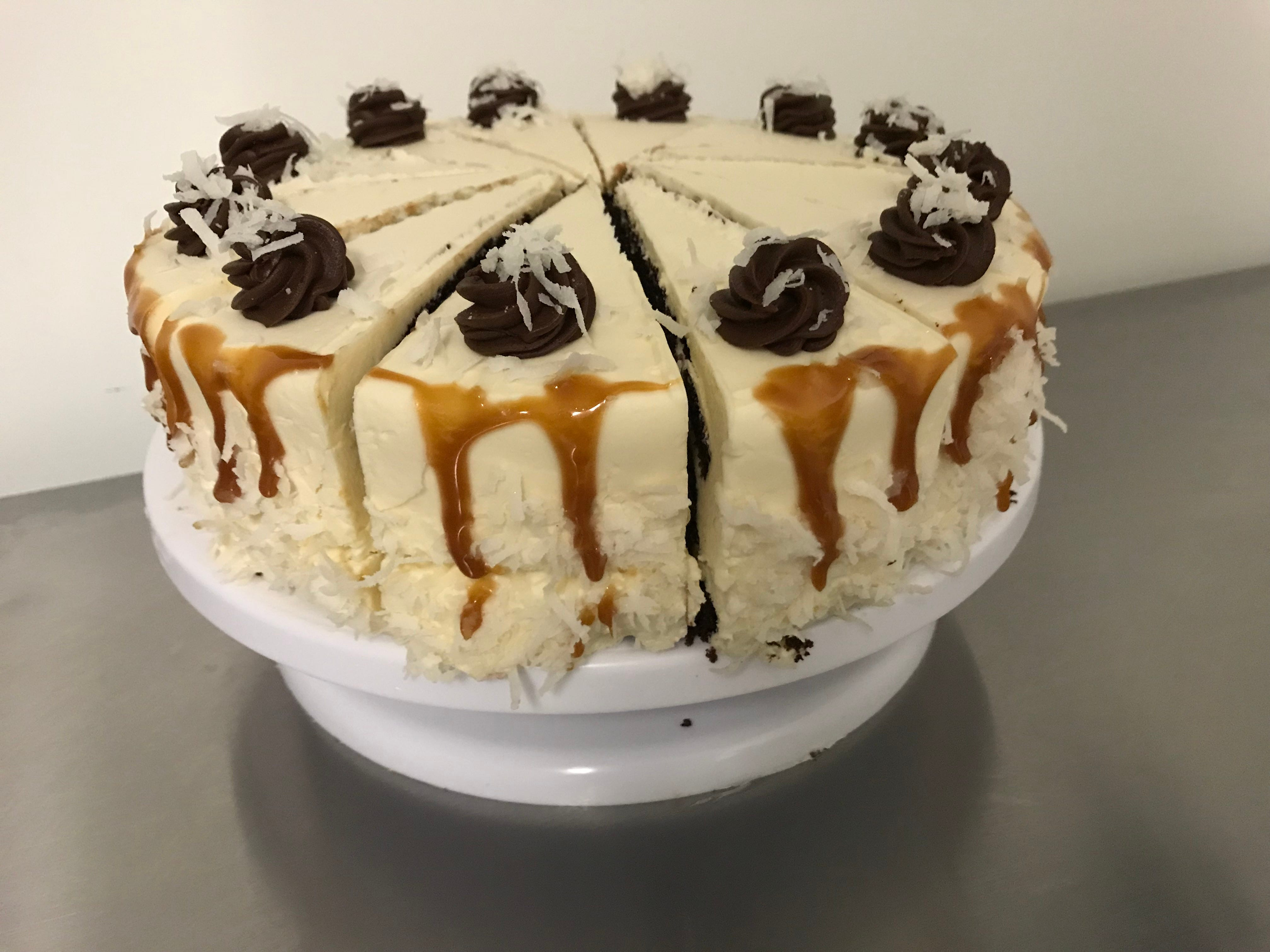 A Samoa cake will be served by the slice at Caramel Bakery and Bar.