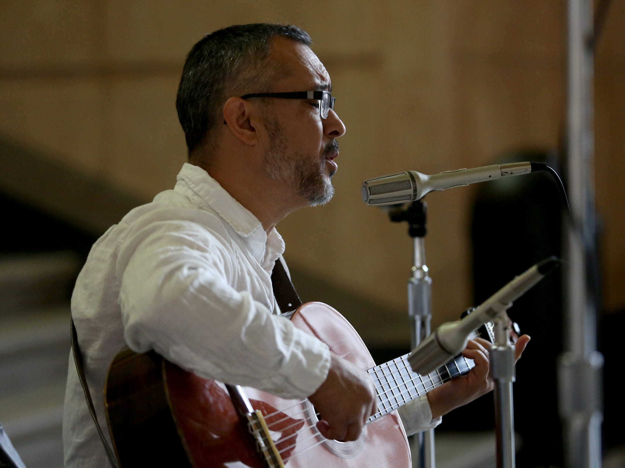 Samuel Davila, of Salem, performs during Hispanic Heritage Day at the Oregon State Capitol on Saturday, Oct. 20, 2018.