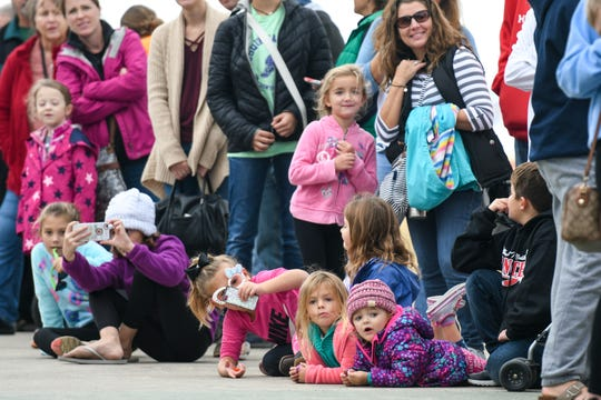 The boardwalk filled with crowds for the annual Ocean City Howl-O-Ween Pet Parade benefitting the Worcester County Humane Society on Saturday, Oct 20, 2018.