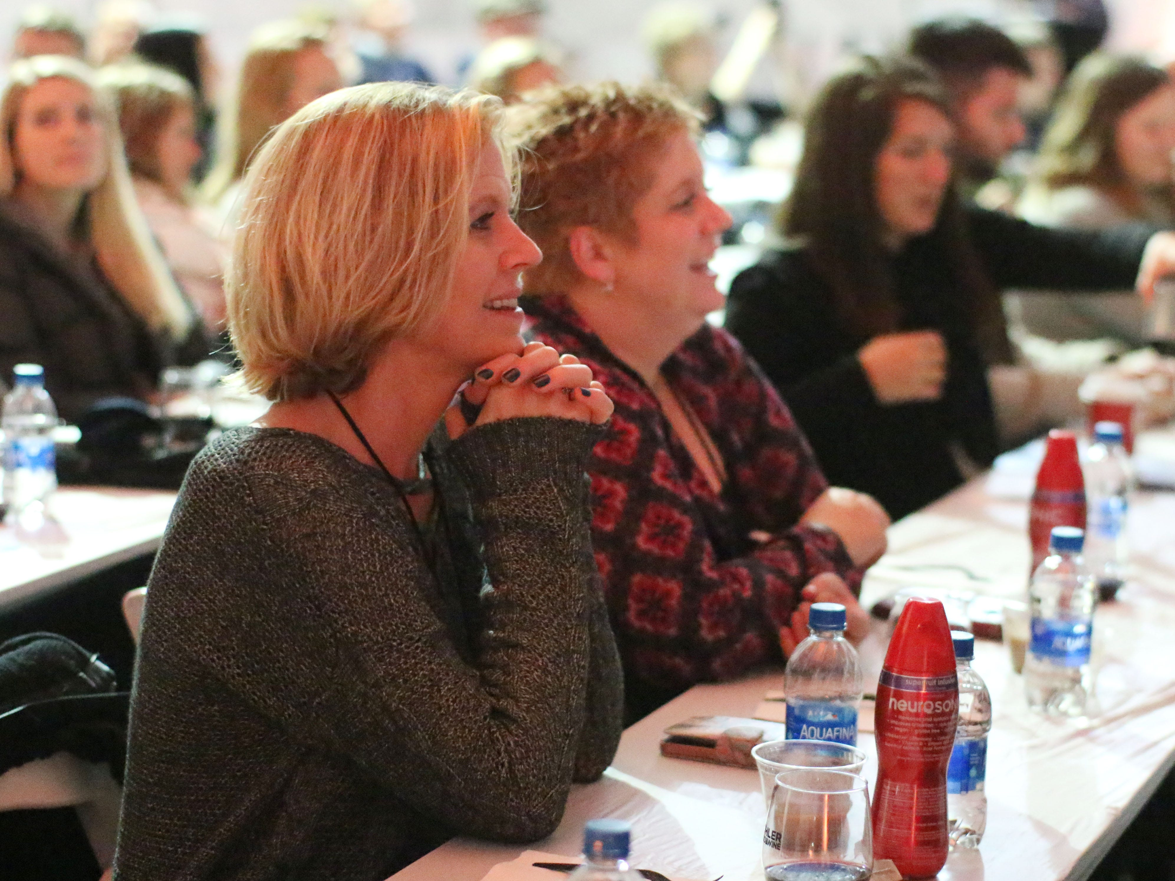 People listen to celebrity chef Fabio Viviani during Kohler Food and Wine, Saturday, October 20, 2018, in Kohler, Wis.