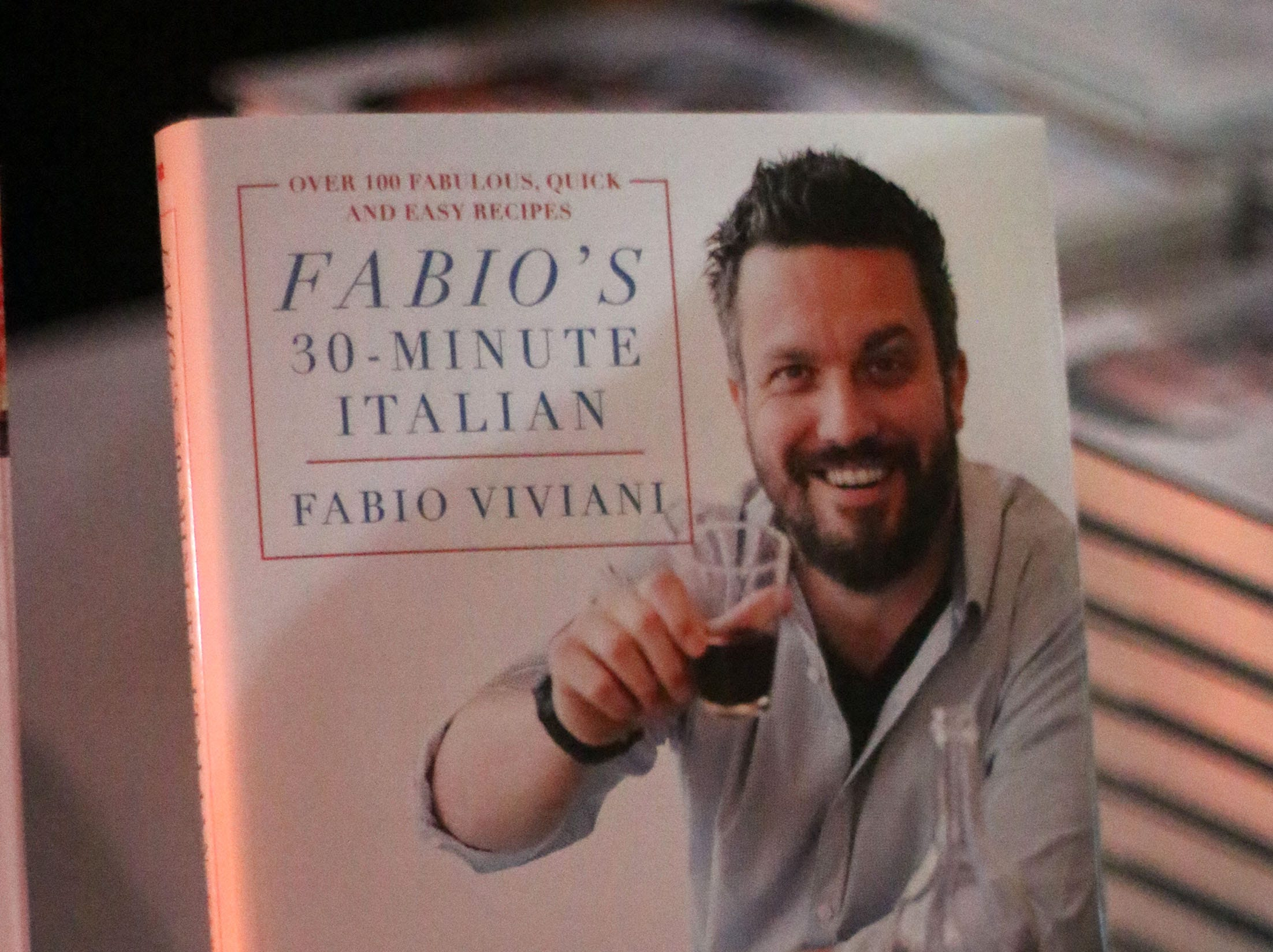 A Fabio Viviani cook book at Kohler Food and Wine, Saturday, October 20, 2018, in Kohler, Wis.