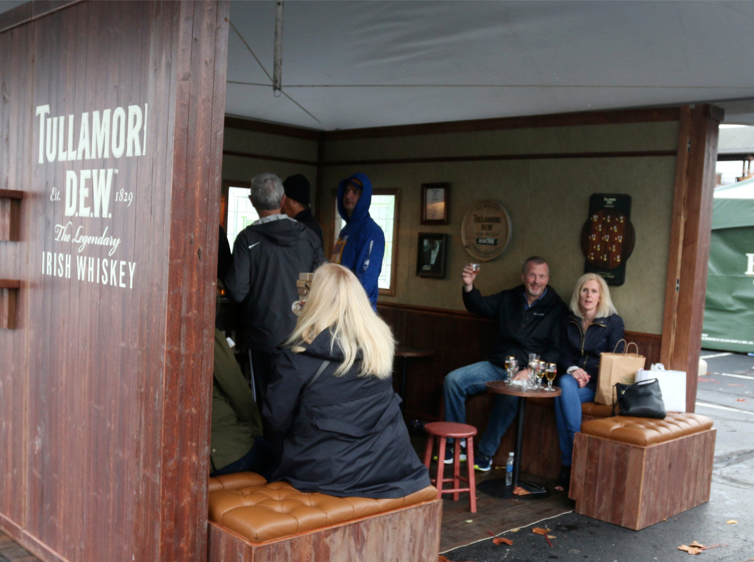 People enjoy specialty drink vendors at Kohler Food and Wine, Friday, October 19, 2018, in Kohler, Wis.
