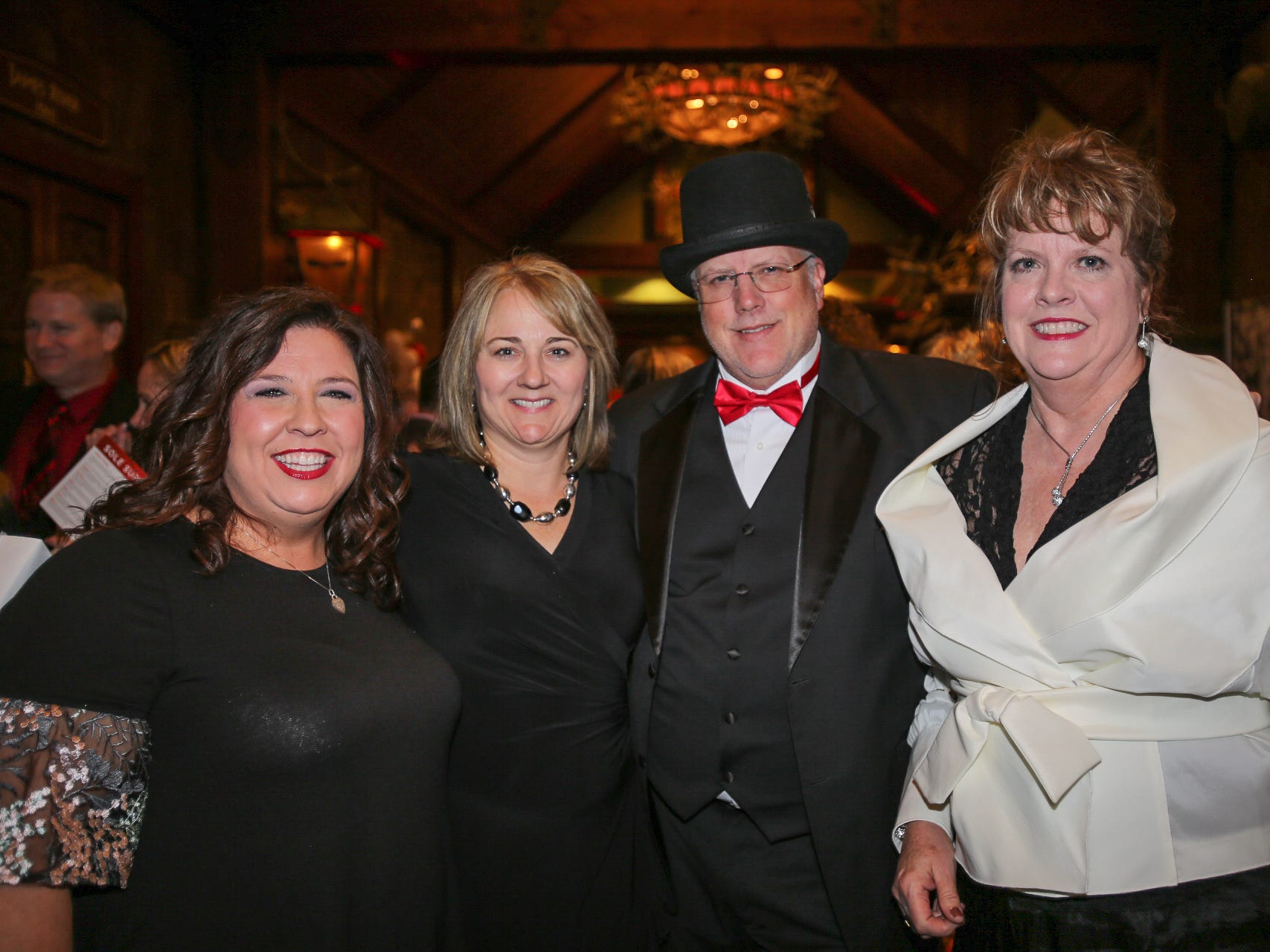Annie Copeland, Karen and Brian Clark, and Kathy Pence