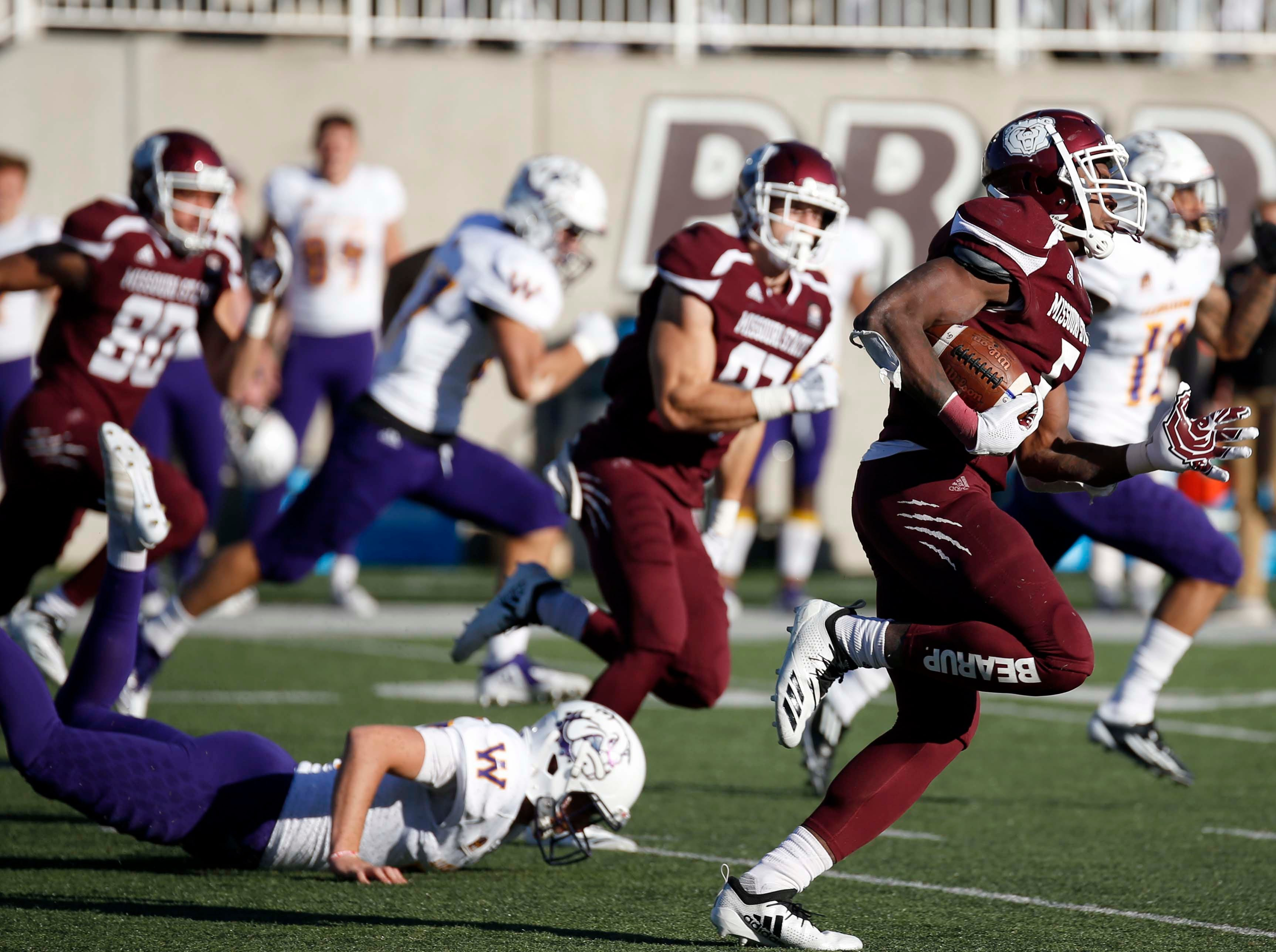 Missouri State against Western Illinois at Plaster Field in Springfield on October 20, 2018.