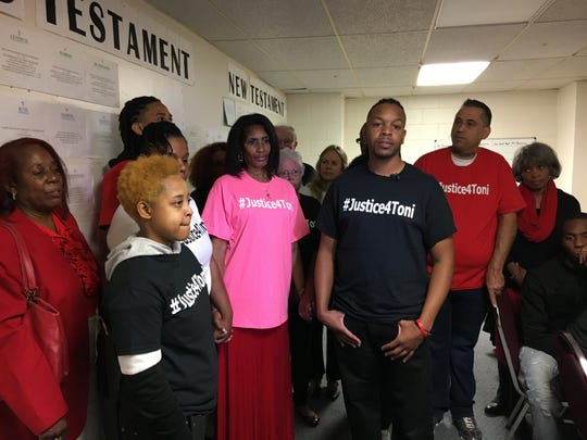 Family members of Toni Brooks gathered Saturday for a press conference.