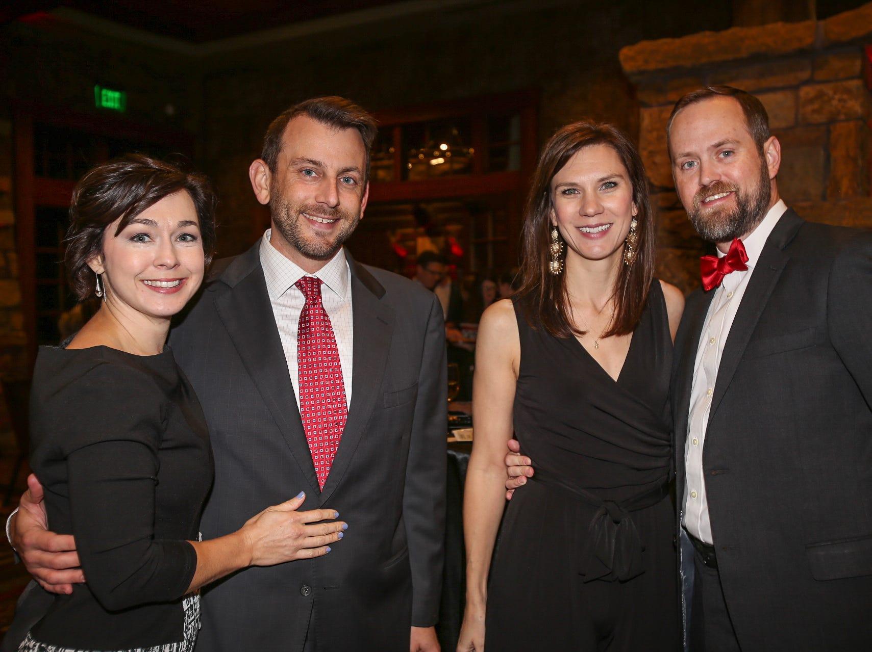Brandi and Rick VanAntwerp, Laura Robinson, and Paul Jameson