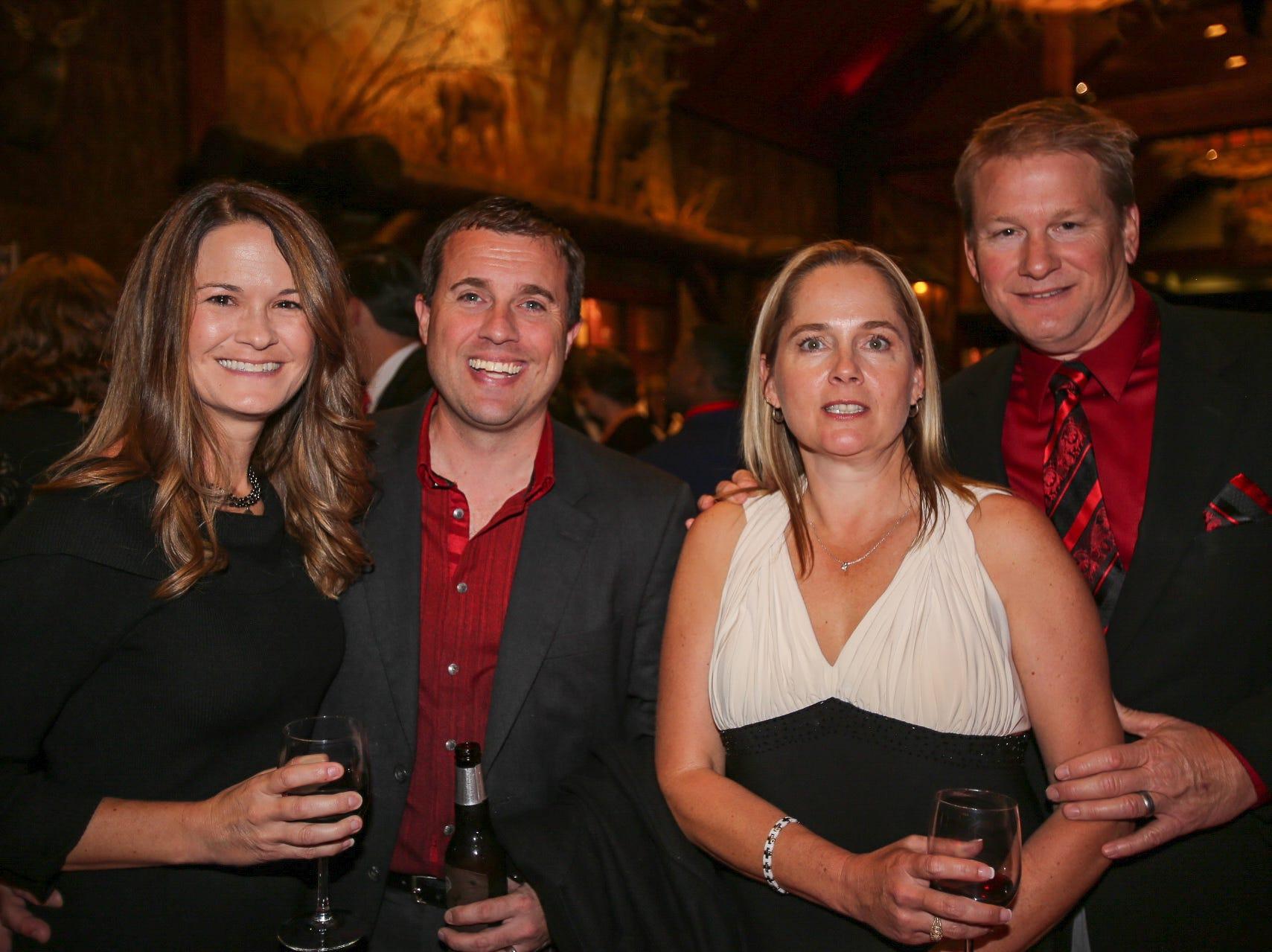 Melinda and Irick Thurman, Jo and Jeremy Macdonnell