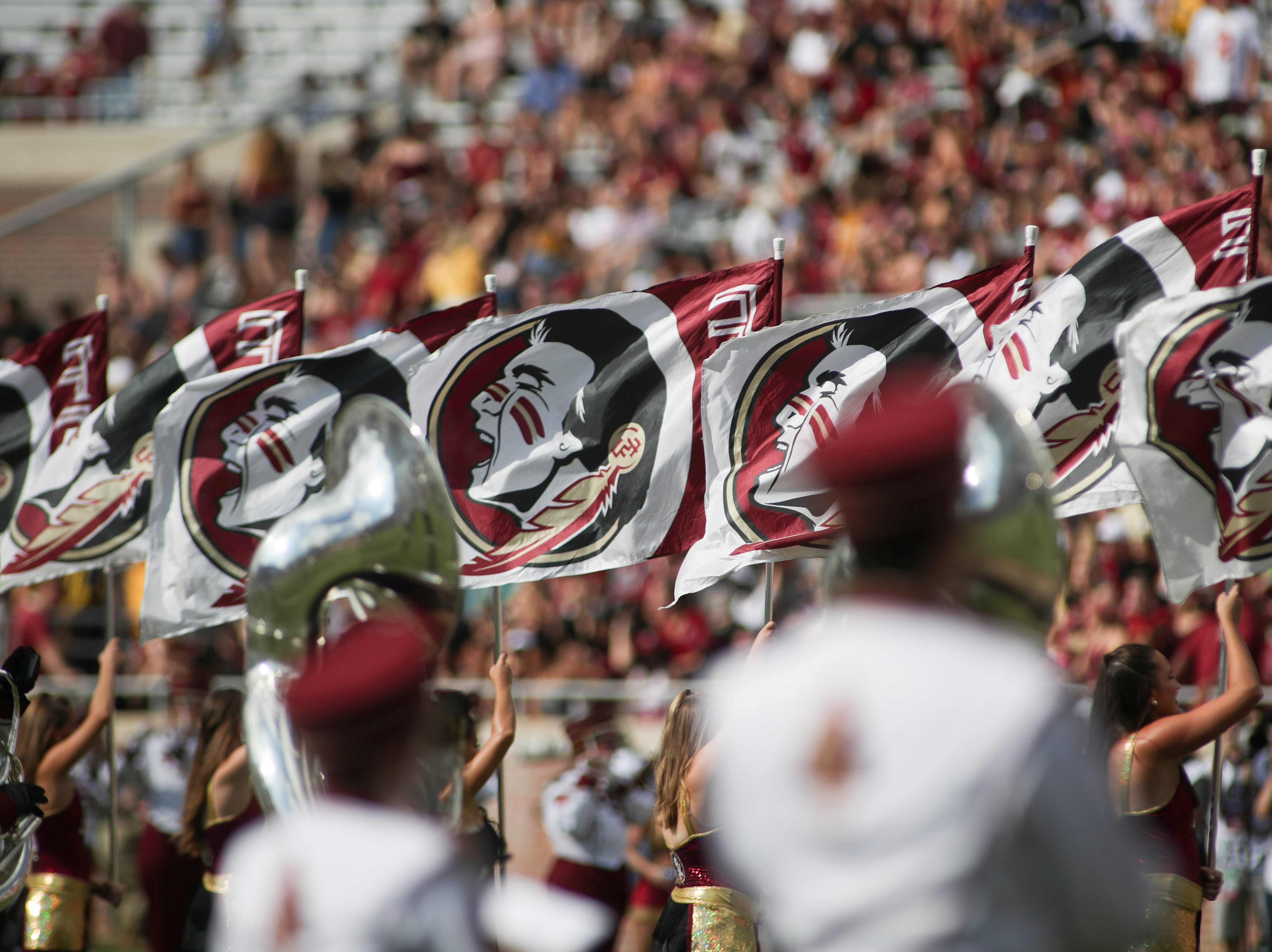 The Marching Chiefs play before FSU's homecoming game against Wake Forest at Doak S. Campbell Stadium Saturday, Oct. 20, 2018.