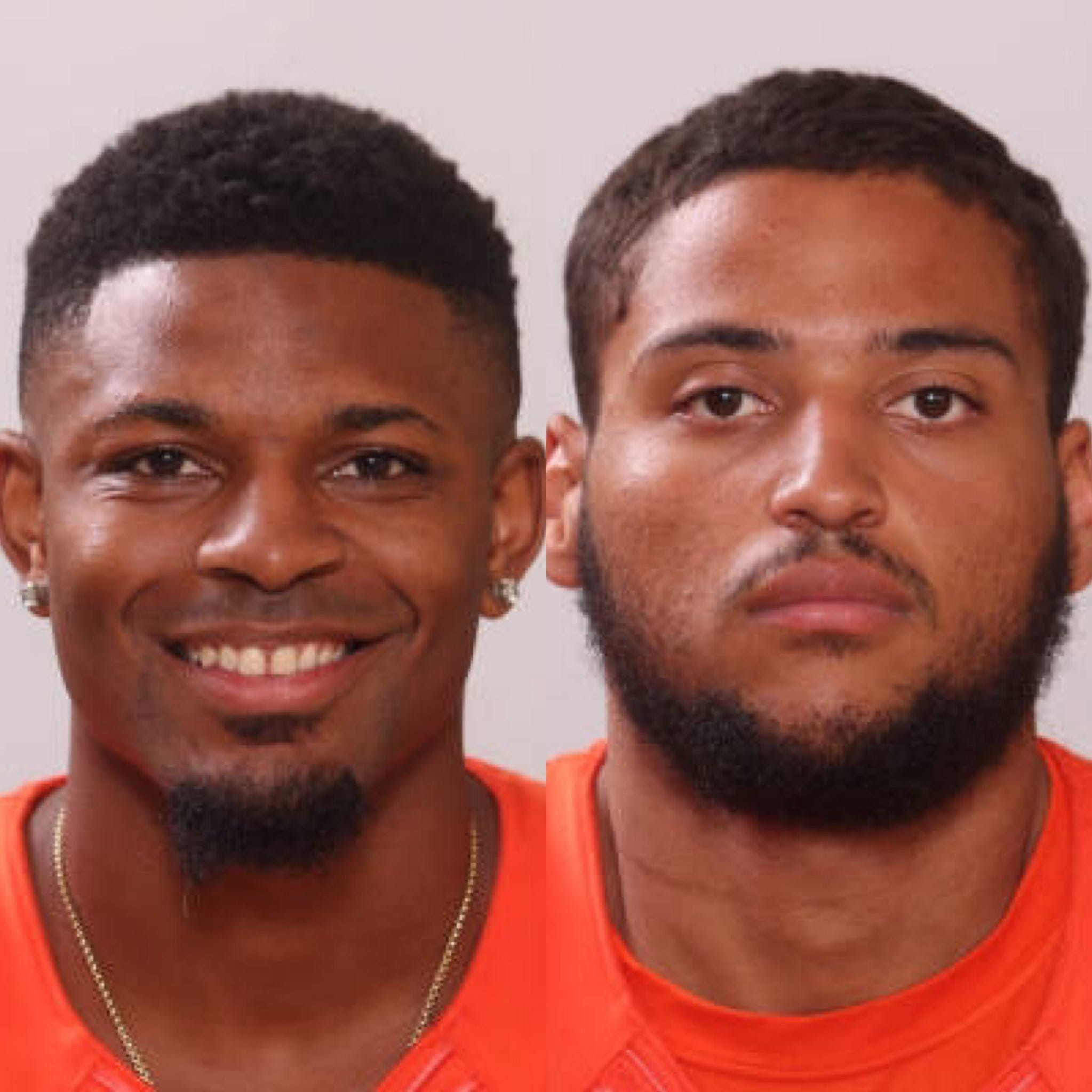 FAMU wide receiver Azende Rey (left) and offensive lineman Zach Saffold hail from Niceville and Lynn Haven. Their towns were ravaged by Hurricane Michael.