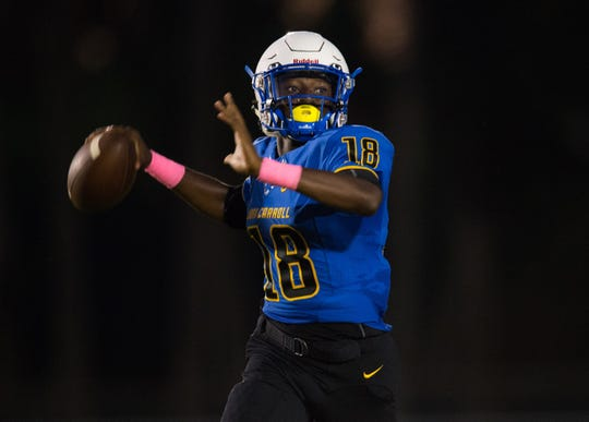 John Carroll Catholic sophomore quarterback Jay Allen was one of two Golden Rams players to earn honorable mention on the Class 3A all-state team.