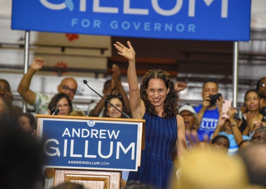 Florida Democratic gubernatorial candidate Andrew Gillum and congressional candidate Lauren Baer held a rally Saturday, Oct. 20, 2018, along with other local liberal candidates at the Lincoln Park Academy gymnasium in Fort Pierce.