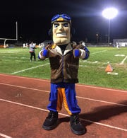 Millville unveiled its new mascot, Maverick,  Oct. 19 against Atlantic City