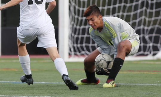 White Plains keeper Tommy Pisapia had six shutouts in 2018 and came up big in tight games against contenders like New Rochelle, John Jay-EF, Arlington and Mamaroneck.