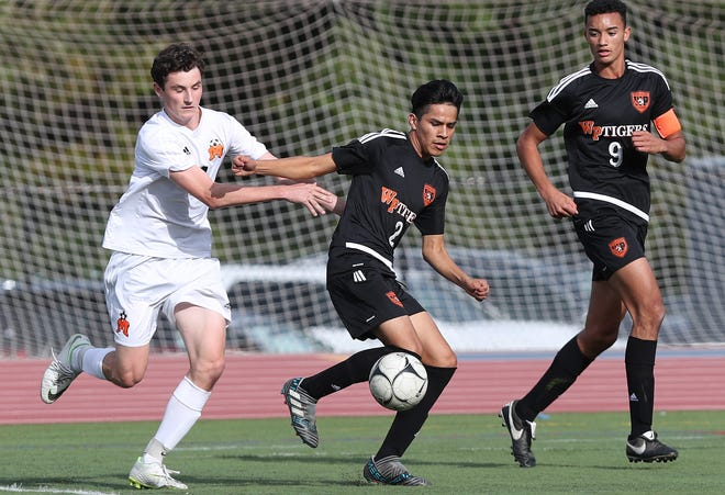 Mamaroneck defeated White Plains 3-0 in boys soccer playoff action at White Plains High School Oct. 19, 2018.