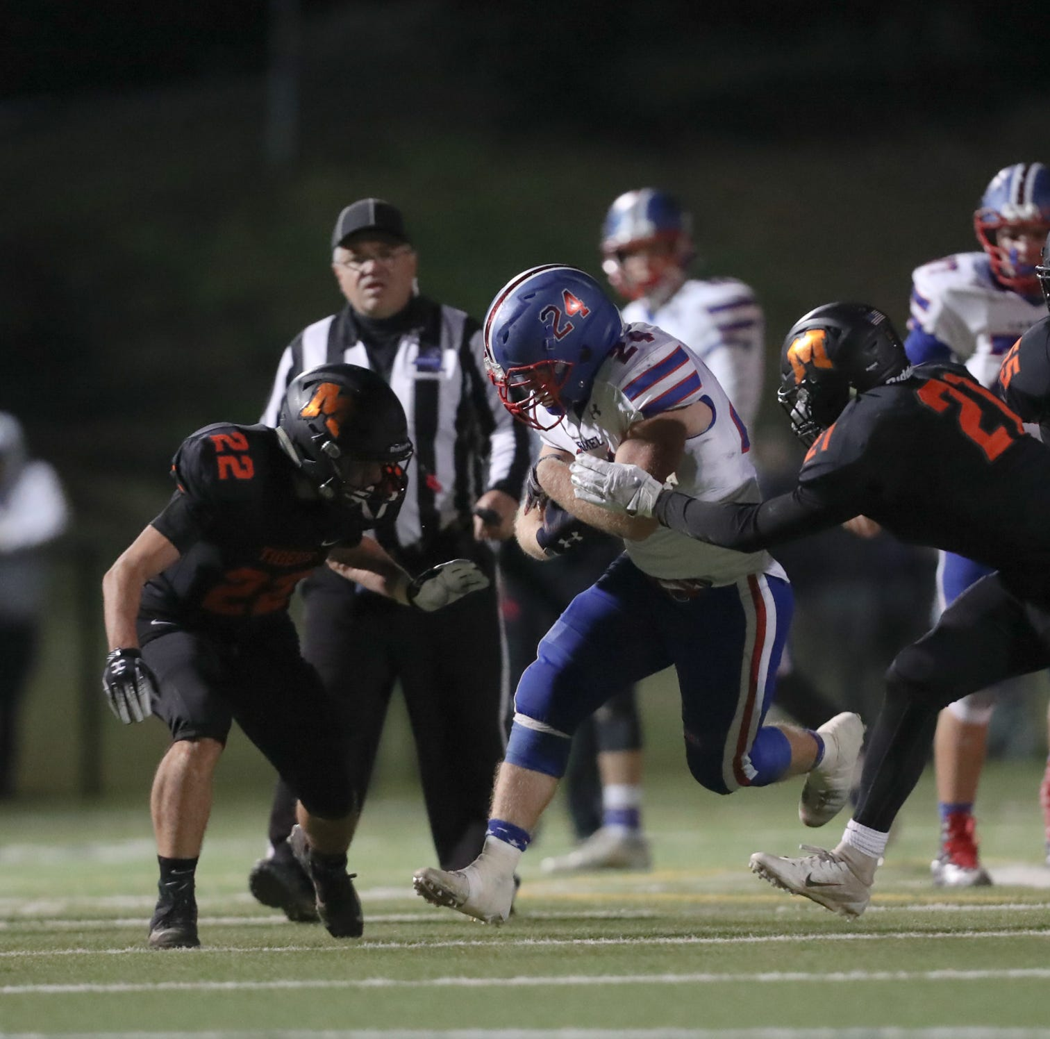 Football: Sam Duke, Carmel overpower Mamaroneck to advance
