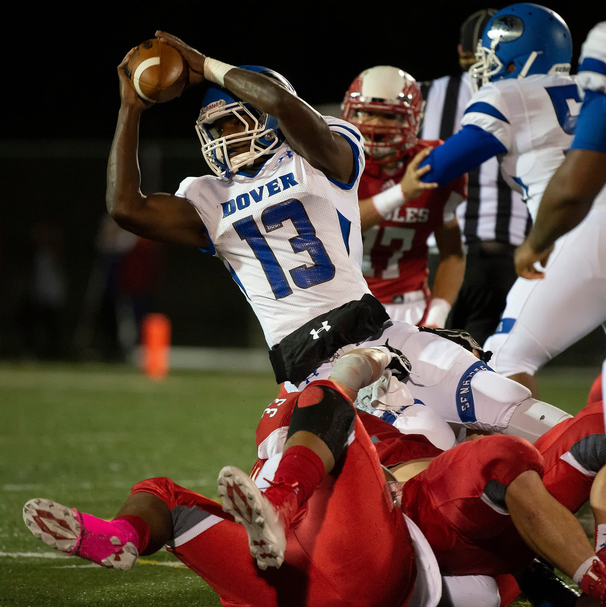 Delaware high school football: Dover holds off Smyrna after controversial calls, coach ejection
