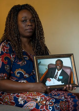 Shelatia Dennis of Dover who's father, Salathiel M. Gaymon, Sr., was found dead in his car in 2017 at the Wilmington Veterans Administration Medical Center while undergoing dialysis.