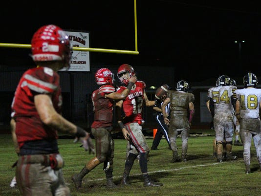Holliday touchdown celebration