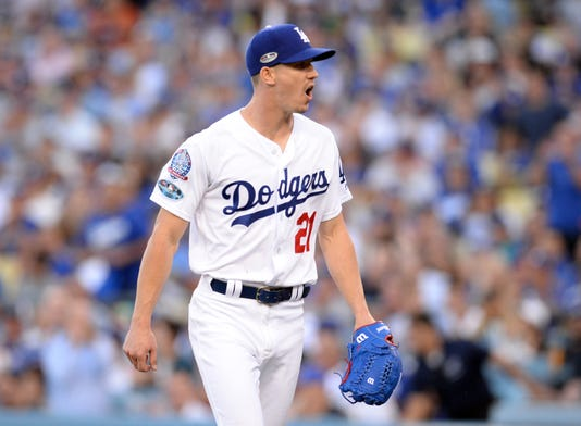 Mlb Nlc's Milwaukee Brewers in Los Angeles Dodgers