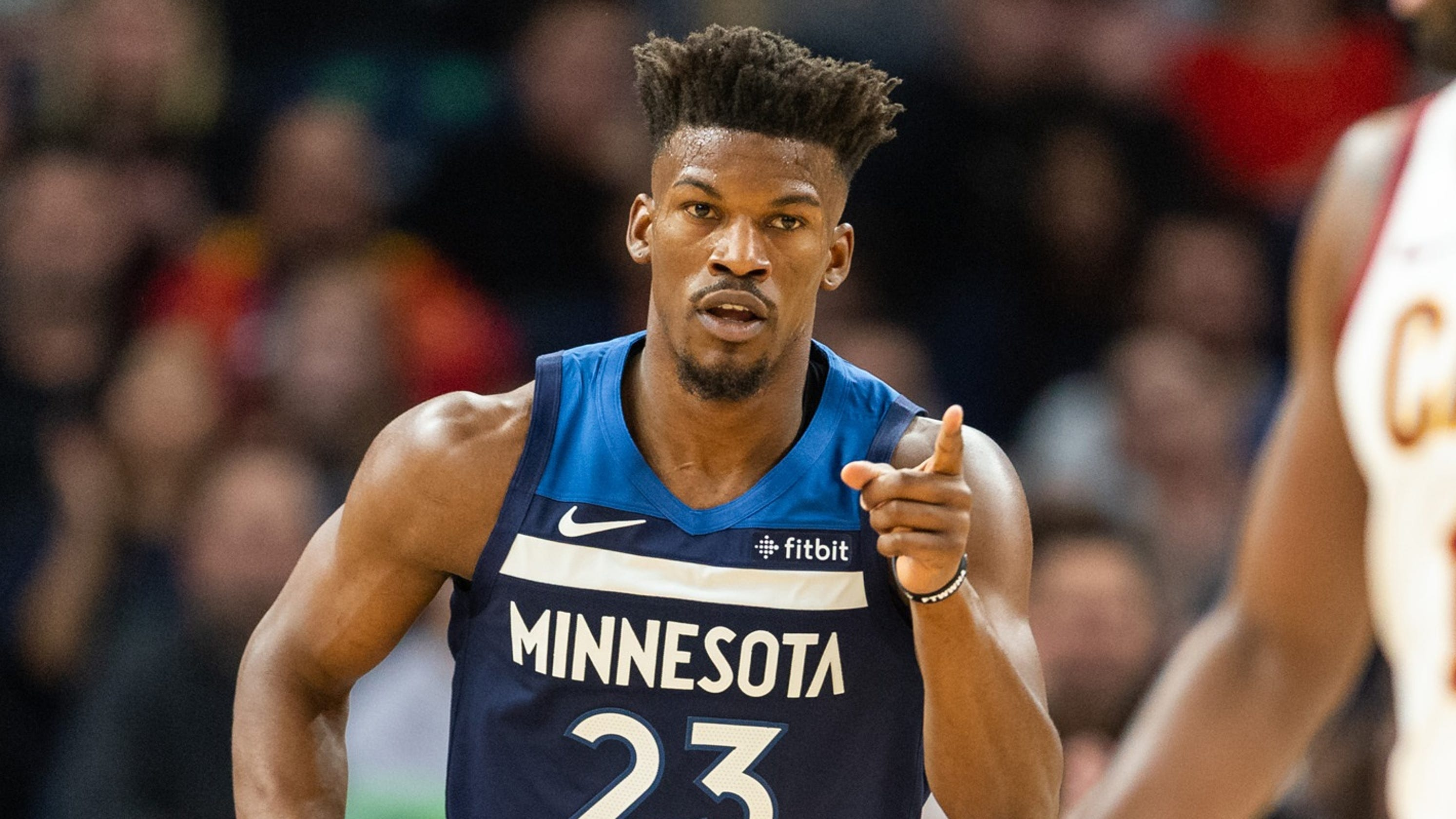 9f4b598d5ebf Timberwolves home opener  Disgruntled Jimmy Butler gets hearty boos and MVP  chant