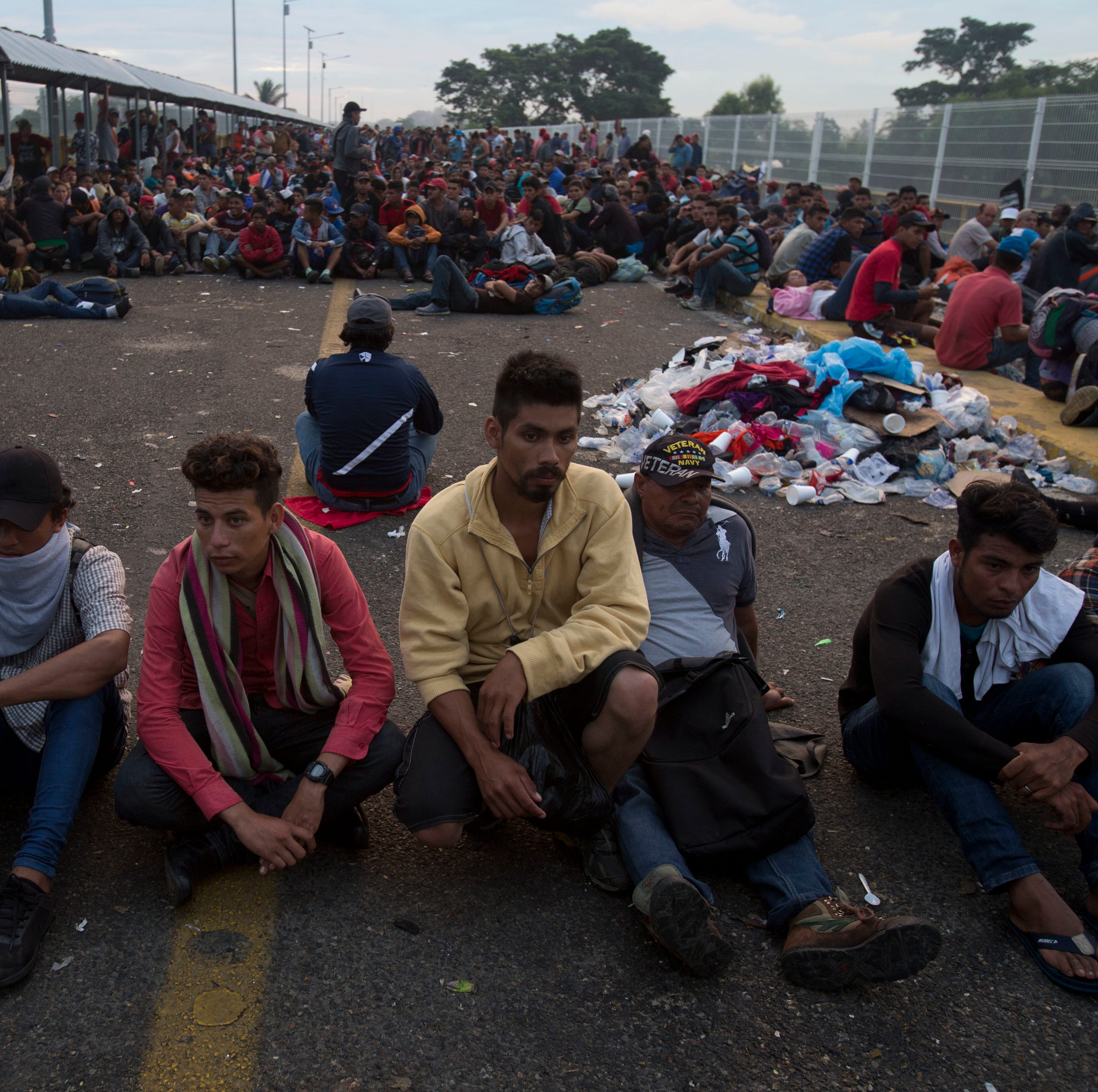 'There's no turning back': Migrant caravan stuck on Mexico border vows not to be deterred