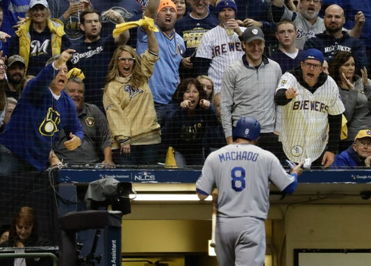 Ap Nlcs Dodgers Brewers Baseball S Bbn Usa Wi