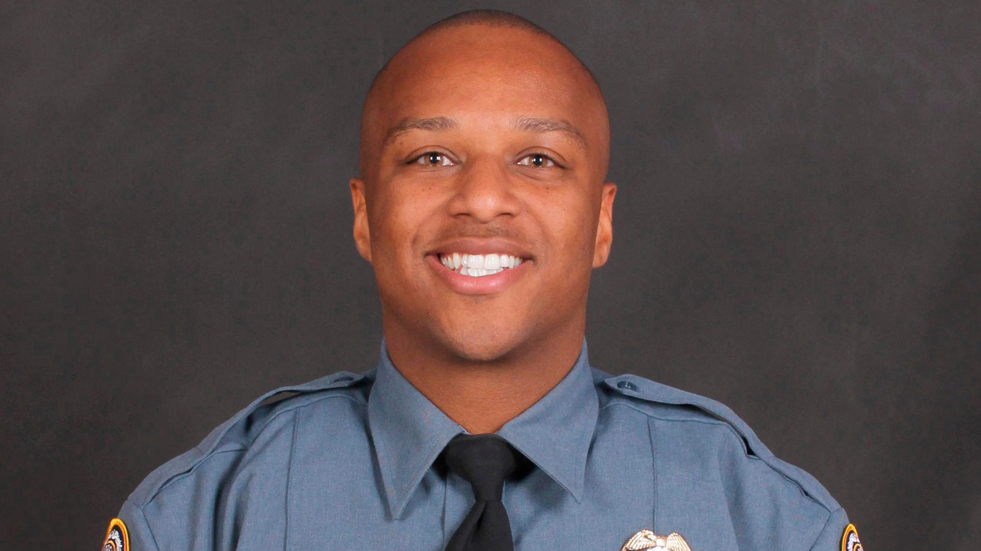This undated photo provided by the Gwinnett County Police Department on Saturday, Oct. 20, 2018 shows Officer Antwan Toney. On Saturday, Toney was killed after being shot while responding to a suspicious vehicle parked near a middle school.