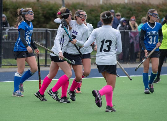 10/21/18 Rumson Fair Haven defeats Shore Reg. 5-1 in SCT  Field Hockey final at Monmouth University. Photo James J. Connolly/Correspondent