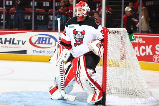 Cory Schneider started in goal for the Binghamton Devils in Wednesday's 7-5 loss at Rochester. He's on a rehab assignment from the New Jersey Devils.