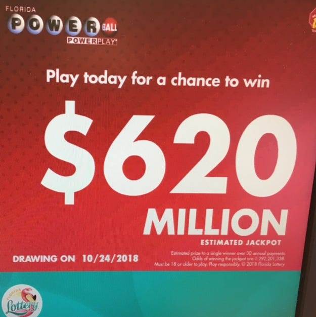 Powerball is at its third-highest jackpot level.