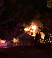 A house fire early Saturday sent smoke and flames above the 2100 block of Chapel Avenue in Cherry HIll.