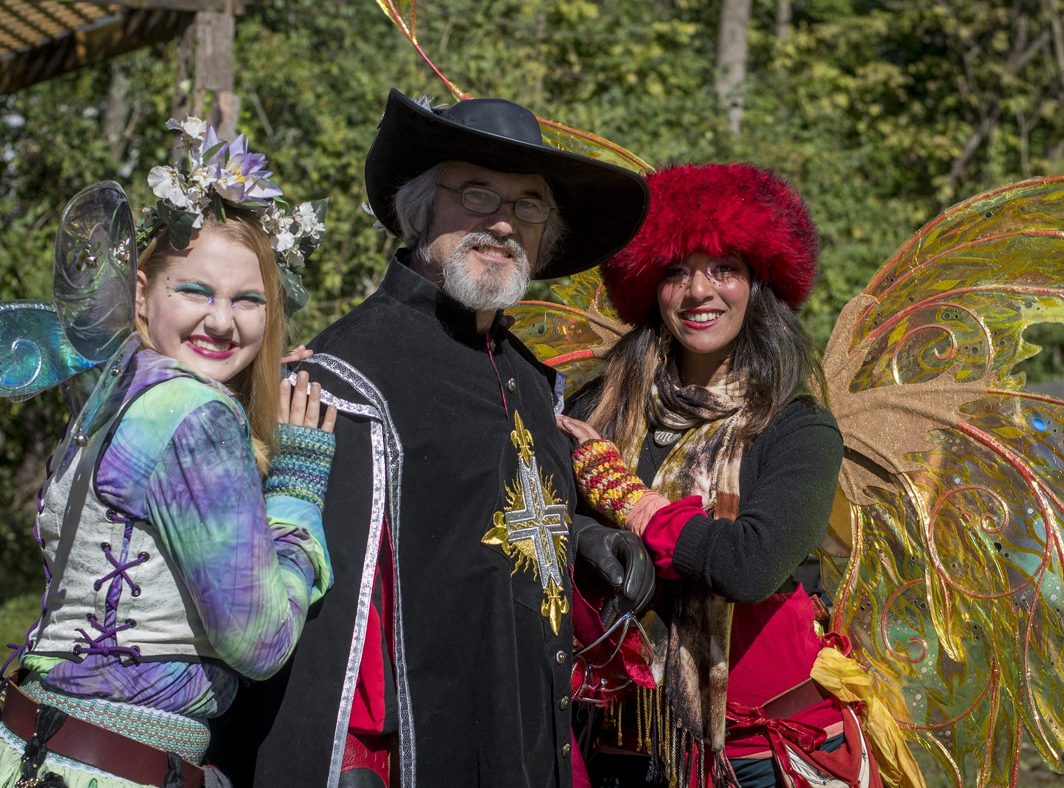 Jingles, Mike and Spark the Fairy attend Romance Weekend at the Ohio Renaissance Festival Sunday, October 21, 2018 in Waynesville, Ohio.