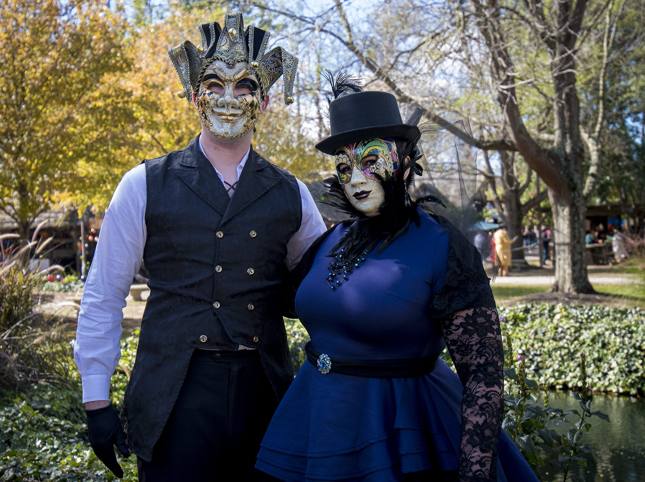 Brian and Wendy Jasper of Gallaway attend Romance Weekend at the Ohio Renaissance Festival Sunday, October 21, 2018 in Waynesville, Ohio.