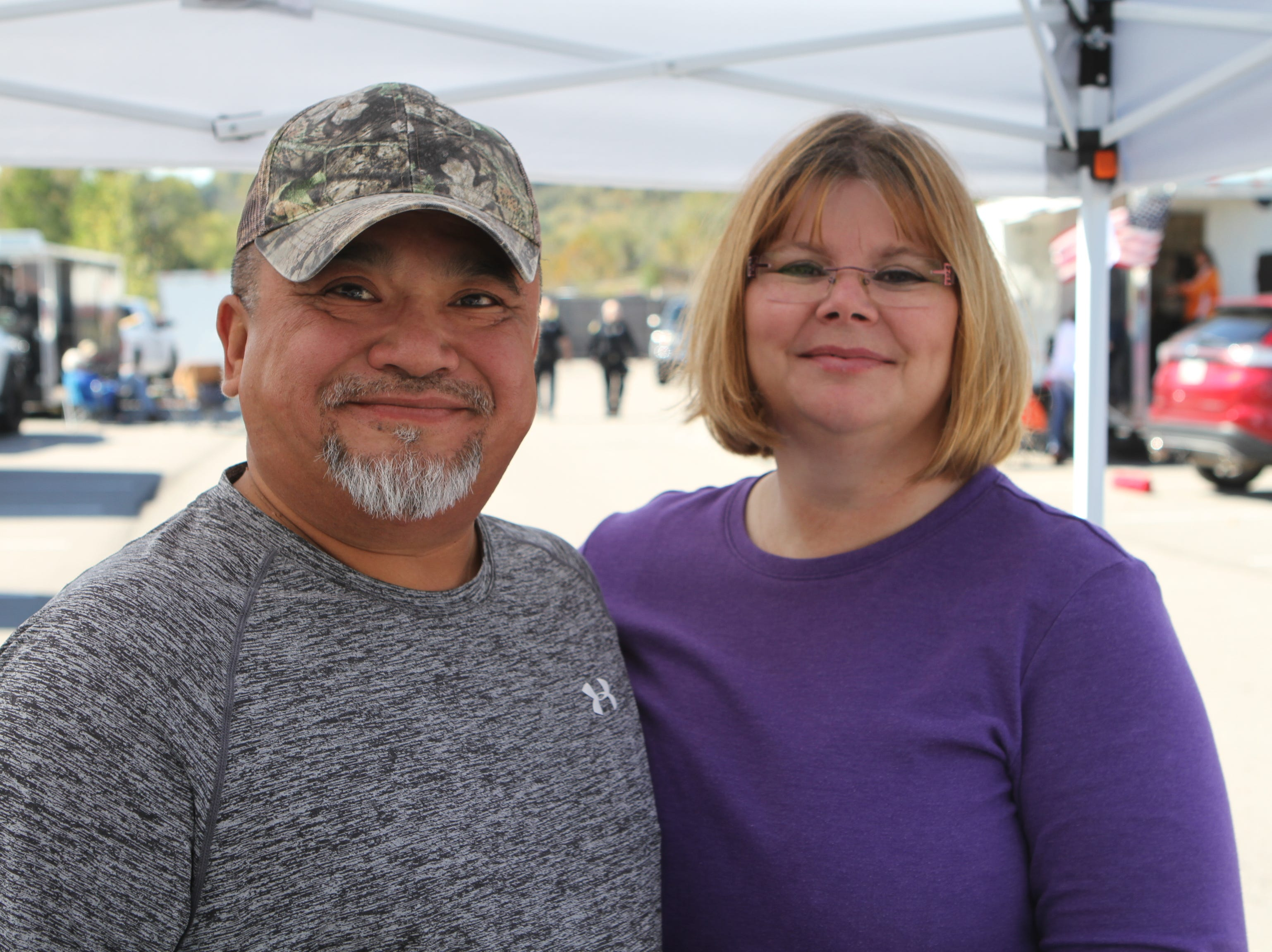 Henry and Tina Spade at the annual BBQ Bash at Liberty Park on Saturday, October 20, 2018.