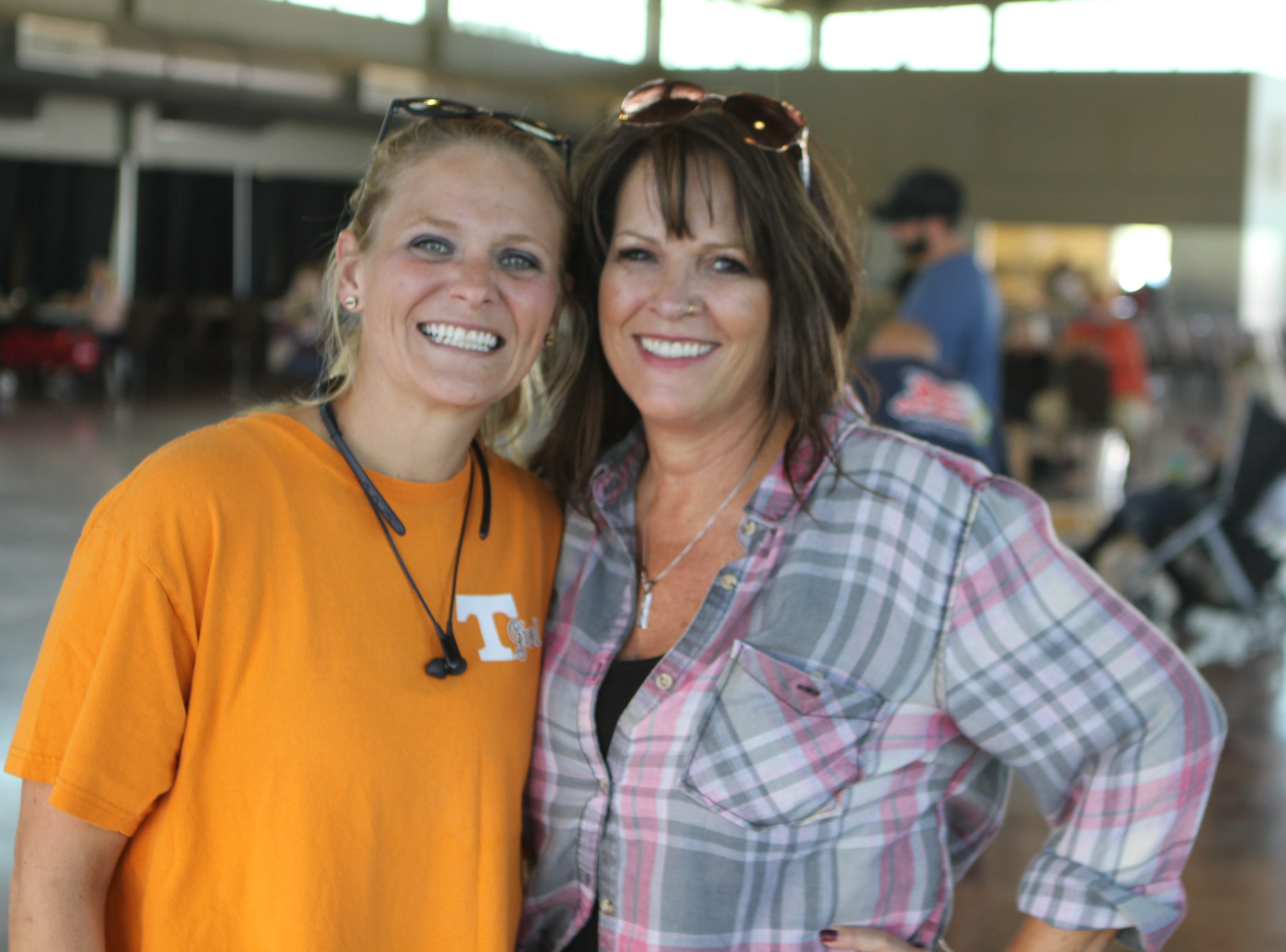 Jessica Lieberstein and Gina Meyer at the annual BBQ Bash at Liberty Park on Saturday, October 20, 2018.
