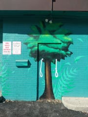 Two nooses were painted on one of the murals on East Grand Avenue, discovered by mural curator Brian Bonanno