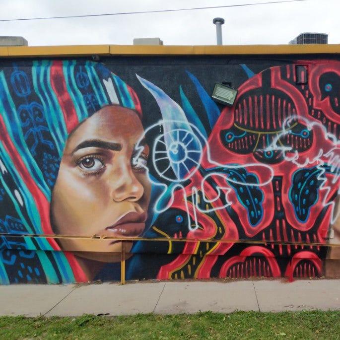 Vandals deface Des Moines murals with racist graffiti