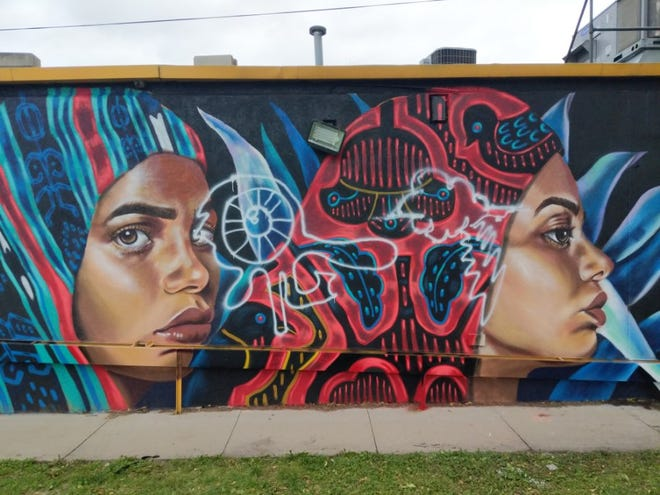 Racist vandalism was discovered on murals on East Grand Avenue last week and is still under investigation.